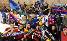 Ejemplar gesto de las aficiones de Atlético Saguntino y Fuenlabrada