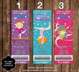 Gymnastics - Tumbling Birthday Party Ticket Invitations