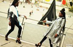 #womanswear #pvcclothing #rainwear #raincoat #DVORA #twins #blackgirls #browngirls #paris