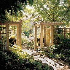 The tall things on either side of the Arbor