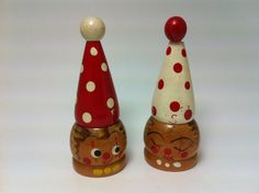 Vintage Clown Salt and Pepper Shakers   $18