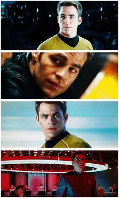 Captain James T. Kirk of the USS Enterprise