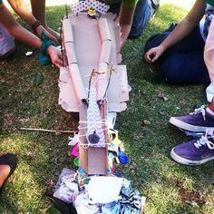 kids fun activities, make a slide that an egg will not brake going down