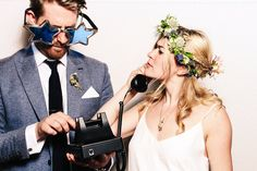 Telephone prop for photo booth | The Photo Booth Guys  http://photobooth.co/wedding-photo-booth-10-ways-to-get-it-right/