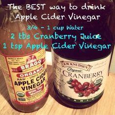 The BEST way to drink apple cider vinegar