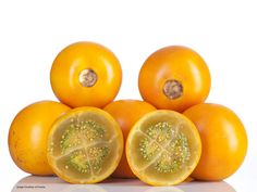 """Naranjilla is a really unique fruit from the Andes; delicious, sweet and sour taste, orange flavor; 2"""" fruit"""