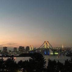 #dusky #view from #odaiba