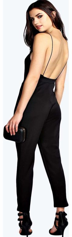 boohoo Lulah High Neck Strappy Back Jumpsuit - black Nail the 90s neck on nights out with this sultry spaghetti strap jumpsuit , featuring a high waist panel for a leg-lengthening fit! Style it with strappy heels , a box clutch and hoop earrings . http://www.comparestoreprices.co.uk/womens-clothes/boohoo-lulah-high-neck-strappy-back-jumpsuit--black.asp