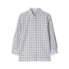 MARGARET HOWELL Layered Gingham Check Shirts ($220) ❤ liked on Polyvore featuring tops, shirts, long sleeved, blouses, women, double layer top, long sleeve layering shirts, gingham print shirt, shirt top and margaret howell