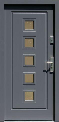 Drewniane wejściowe drzwi zewnętrzne do domu z katalogu modeli klasycznych wzór 682