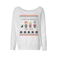 I Put a Spell on You Hocus Pocus Wideneck Sweatshirt – TeesAndTankYou