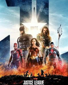 Newest Justice League Movie Poster 2017 for DC Extended Universe With The Flash, Wonder Woman, Cyborg, Batman and Aquaman - DigitalEntertainmentReview.com