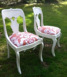 I like these shabby chic chairs for the casual dining area.
