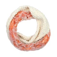 Gorgeous Arizona sports snood by Blanche in the Brambles. Orange faux fur contrasted with cream bobble jersey.