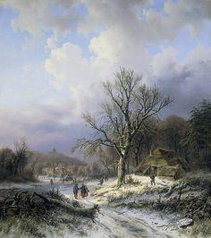 Daiwaille, Alexander Joseph -- Sneeuwlandschap, 1845. Рейксмузеум: часть 3