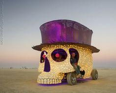 Burning Man 2013, Skeleton Head Gentelman Art Car   Flickr - Photo Sharing!