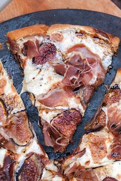 """intensefoodcravings: """" Fig and Prosciutto Pizza with Balsamic Drizzle 