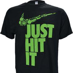 "Nike Parody ""Just Hit It"" on BLACK Shirt"
