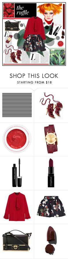 """""""The ruffle"""" by misskarolina ❤ liked on Polyvore featuring Derek Lam, rms beauty, Movado, Marc Jacobs, Smashbox, Gucci, RED Valentino, Salvatore Ferragamo, Lipstick Queen and topic"""