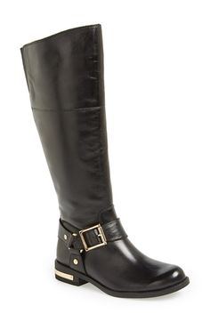 Vince Camuto 'Kallie' Leather Riding Boot (Women)(WIde Calf) available at #Nordstrom