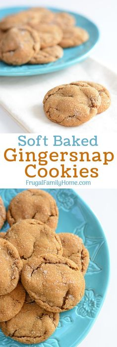 Soft baked gingersnap cookies from scratch. Make these soft and delicious gingersnap cookies to enjoy for dessert, pack into your kid's lunches, or give as a gift. They are easy to make and you can freeze the dough until later too.