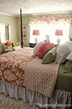 DIY:: Beautiful Garden Inspired Master Bedroom Makeover !