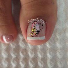 Toe Designs, Pedicure Designs, Nail Art Designs, Cute Toe Nails, Cute Toes, My Nails, Magic Nails, Manicure And Pedicure, Tattoos