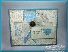 Tea Shoppe Stamp set by Stampin Up card by Sandi MacIver