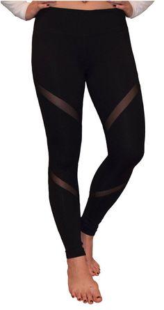 Mesh Yoga Pants/Running Pants (Black)