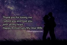 Beautiful wedding anniversary wishes status for wife in English. These romantic lines will make her day more special. Marriage anniversary status for whatsapp fb Anniversary Wishes For Wife, Marriage Anniversary, Anniversary Funny, Thank You For Loving Me, Love You, My Love, Fb Status, With All My Heart, Captions