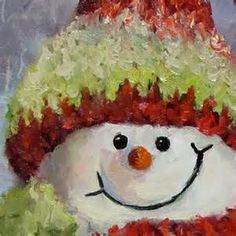 snowman canvas painting - - Yahoo Image Search Results