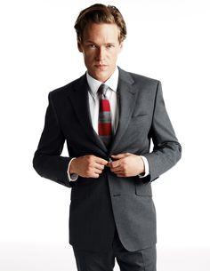 $254 | Keswick Cotton Suit Jacket | Grey | Boden