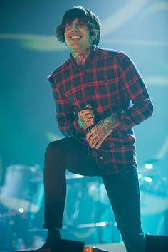 lead singer Oli Sykes of British metalcore band Bring Me The Horizon performing at The SSE Arena/Wembley Arena, London, England, UK on Friday 5th December, 2014. #bringmethehorizon www.musicpics.co.uk