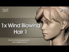 ▶ Zbrush Sculpting - 1x Wind Blowing hair 01 - YouTube