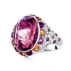 Tiffany red tourmaline ring