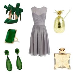 """emerald"" by marifimarina ❤ liked on Polyvore featuring J.Crew, The Mason Shaker and Hermès"