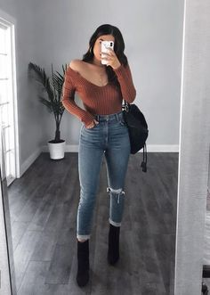 Totally Wearable 😍 Chic outfits ideas for Fall Fashion 2019 Totally Wearable 😍 Schicke Outfit-Ideen für die Herbstmode Trend Fashion, Look Fashion, Autumn Fashion, Fashion Outfits, Fashion Ideas, Fashion Black, Fashion Boots, Womens Fashion, Cute Casual Outfits