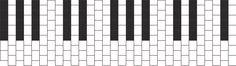 Piano bead pattern