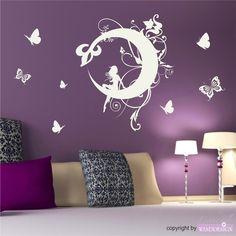 Wunderschöne Mondillusion - Wandtattoo - Elfe von chef1274 via dawanda.com