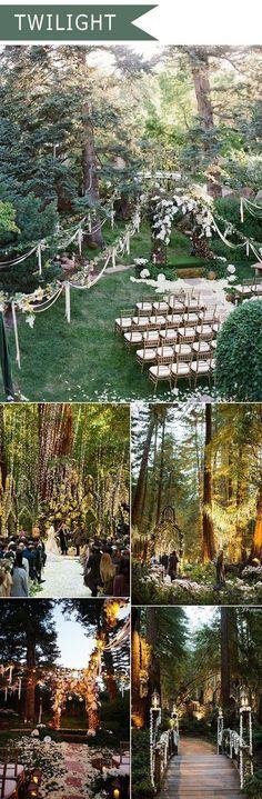 2016 trending twilight forest themed wedding ideas