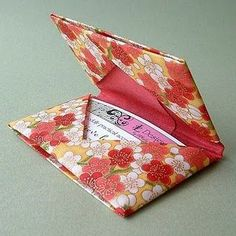 How to make an origami gift card holder. How to make an origami gift card holder. The post How to make an origami gift card holder. appeared first on Paper Diy. Box Origami, Origami Wallet, Origami Cards, Origami Gifts, Fabric Origami, Paper Crafts Origami, Paper Crafting, Fabric Crafts, Diy Crafts
