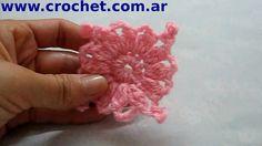 Motivo Flor en tejido crochet tutorial paso a paso.