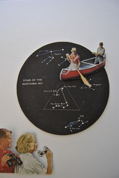 A very rare event Pole Star, Collages, Mixed Media, Assemblages, Sky, Stars, Drawings, Movie Posters, Painting