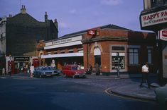 This building dates from the early when the railway cutting west of the station was roofed over. It was replaced by the present building in the early Several Ford cars outside. Woolwich Arsenal, Old London, Local History, Historical Photos, London England, Google Images, Vintage Photos, Beautiful Places, Past