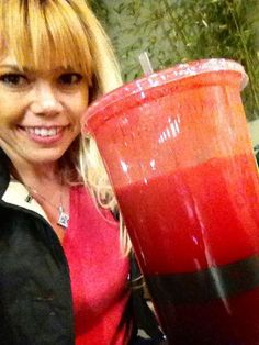 Juicing Vegetables & Fruit      ⭐Just picked up my 32 oz veggie juice @ Mother's Market after a long day at CBS Studios on my feet, since I didn't have time to make any before I had to be on set this AM! I only had time for my lemon juice and water!⭐    ✨It doesn't matter where I am at, I always find a way to make or aquire my fresh veggie juice!✨    ✔Carrots   ✔Cucumber  ✔Broccoli  ✔Beets  ✔Ginger  ✔Lemon  http://www.facebook.com/JUICING101  http://pinterest.com/katmovements/