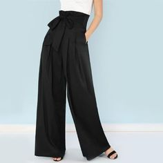 Shop Self Belted Box Pleated Palazzo Pants online. SheIn offers Self Belted Box Pleated Palazzo Pants & more to fit your fashionable needs. Wide Leg Palazzo Pants, Loose Pants, Wide Leg Pants, Women's Pants, High Waisted Palazzo Pants, Fall Pants, Dress Pants, Fashion Pants, Fashion Outfits