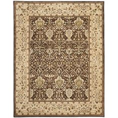 An intricate Oriental design and dense, thick pile highlight this handmade rug. The rug uses designs from timeless masterpieces combined with the highest quality New Zealand wool to create one of the finest handcrafted rugs available.