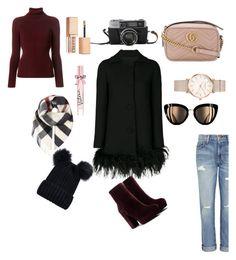 """Winter"" by mindaandea on Polyvore featuring Boutique Moschino, Current/Elliott, Balenciaga, Gucci, Burberry, Victoria's Secret, Stila and ROSEFIELD"