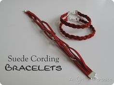 DIY Tutorial - Suede Cording Bracelets.  Simple and fun to make.