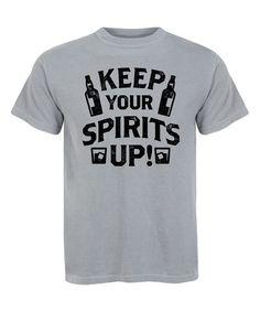 Charcoal 'Keep Your Spirits Up' Tee - Men's Regular
